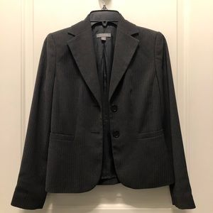 Ann Taylor Gray Chevron Tweed Blazer 0P